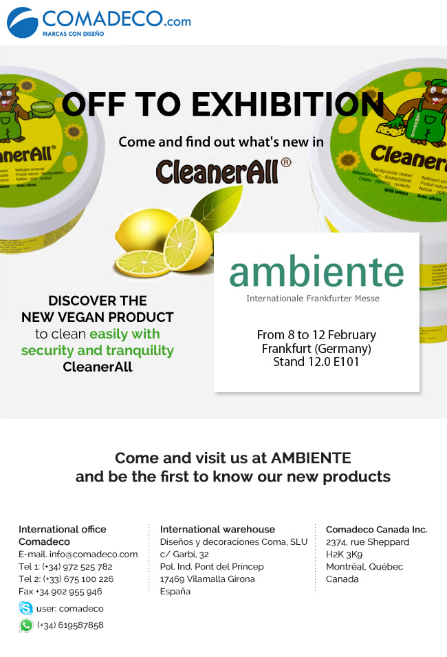 From 8 to 12 February visit us at the Ambiente fair (Germany)